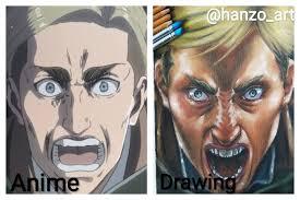 This group allows peoples doujinshi's, manga's, anime drawings, mini comic. Anime Vs Drawing By Me Instagram Id Hanzo Art Reference Used Credits To Original Artist Shingekinokyojin