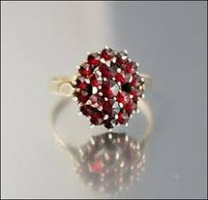 art deco bohemian garnet ring silver hallmarked czech garnet jewelry garnet rings heart jewelry