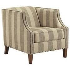 berwyn view accents club style accent chair with stripe fabric and nailhead trim by signature design by ashley at wayside furniture