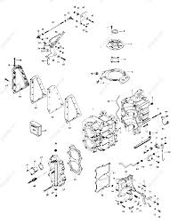 Mercury chrysler outboard parts by hp model 30hp oem parts diagram for power head boats