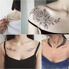 тату на ключице для девушек нежные и стильные женские тату