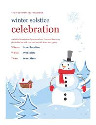 Part Flyer Winter Party Flyer
