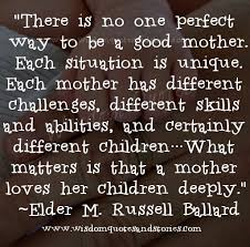 Good Mom Quotes Impressive There Is No One Perfect Way To Be A Good Mother Wisdom Quotes