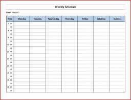 Week Hour Schedule Template 007 Weekly Hourly Schedule Template Ideas Characteristics Of Planner