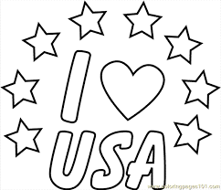 I Love Usa Clr Coloring Page Free Usa Coloring Pages