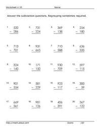 Subtraction Frenzy Worksheets Delectable Practice 44Digit Subtraction With These Free Math Worksheets Math