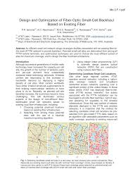 Small Cell Site Design Pdf Design And Optimization Of Fiber Optic Small Cell