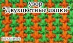 Следки с двухцветным узором 18