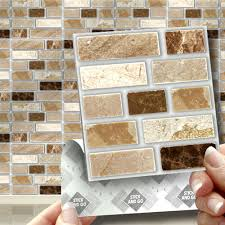 Sticky Tiles For Kitchen Floor 18 Peel Stick Go Stone Tablet Self Adhesive Wall Tiles Kitchens