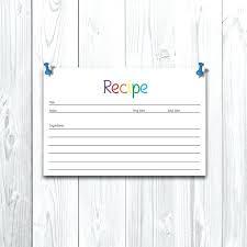 Recipe Binder Templates Recipe Card Templates Recipe Book Template Printable Recipe