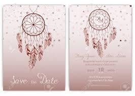 Dream Catcher Card Designs Wedding Card Invitation Hand Drawn Native American Dream Catcher