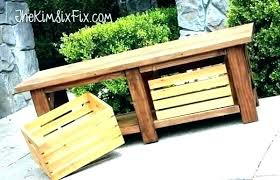 storage garden bench image rustic storage bench furniture diy waterproof outdoor storage containers