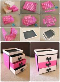 easy to make makeup storage using shoe bo find fun art projects to do at home and arts and crafts ideas