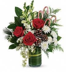 teleflora s festive pines bouquet in fayetteville nc always flowers by crenshaw