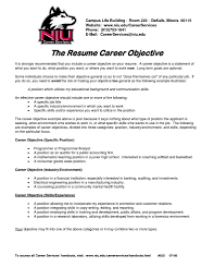 Resume Goals Free Resume Example And Writing Download