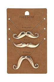 rosascake s save of mr moustache necklace jewelry accessories on wanelo