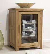nero solid oak furniture hi fi storage cabinet unit with felt pads mobel solid oak dvd
