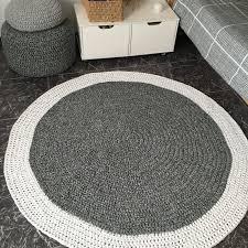 large crochet round rug