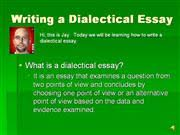 writing a dialectic essay authorstream