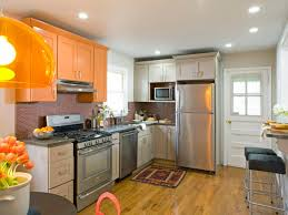 Orange Kitchen Grey Kitchen Cabinets With Orange Walls Quicuacom