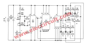 traffic light controller circuit using cd ne 01 the schematic diagram of first circuit