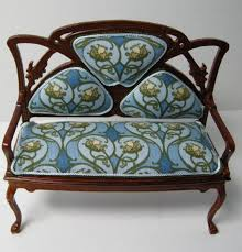 modern art nouveau furniture. Modern Furniture : Dollhouse Miniature Custom Art Nouveau Sofa Images ~ Glubdubs N