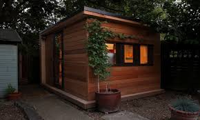 initstudios prefab garden office spaces let you work from your backyard backyard garden studio inhabitat green design innovation architecture backyard office pod 4