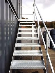 3m High Steel Staircase Metal Mezzaine Staircase Fire Escape 1685 + VAT |  eBay
