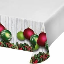 Christmas Ornaments Border Details About Christmas Ornaments Plastic Tablecover Border Print 54 X 102 In