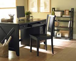wood home office desks small. Rustic Brown Stained Wooden High Wood Home Office Desks Small L