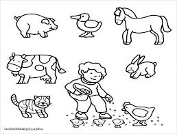 Collection Of Baby Farm Animal Coloring Pages Download Them And