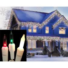 Led Red Green White Christmas Lights Sienna Set Of 100 Red Green And Frosted Clear Mini Icicle Christmas Lights White Wire