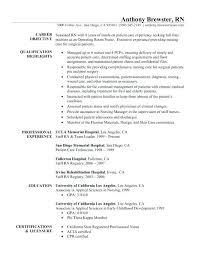 New Nurse Resume Examples Wonderful New Graduate Resume Examples