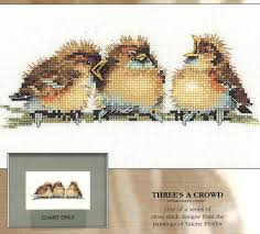 Threes A Crowd Counted Cross Stitch Pattern Valerie