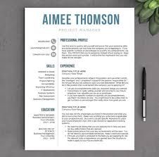 Modern Resume Style Esty Modern Resume Template For Word And Pages 1 2 3 Page Etsy