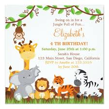 Jungle Theme Birthday Invitations Jungle Party Invite Magdalene Project Org