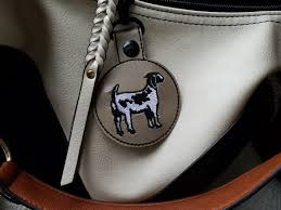 Boer Goat Embroidery Designs Dapple Boer Goat Snap Tab Key Fob In The Hoop Embroidery