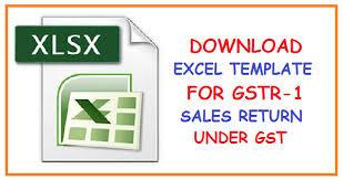 Vat Calculation Formula In Excel Download Download Excel Template For Gstr 1 Sales Return Under Gst