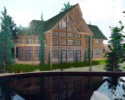 House Luxury Log House Plans