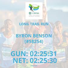 58254) BYRON BENSON - Long Trail Run - 2019 Old Mutual Two Oceans Marathon  (2019) | SportSplits