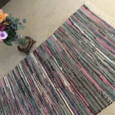 rag rug mats pink gray colorful hippie from pink and gray area rug for nursery