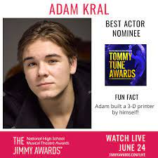 Yay, Adam! Houston's Adam Kral is on his... - Tommy Tune Awards, from  Theatre Under the Stars   Facebook