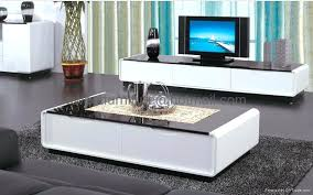 coffee table and tv stand set black glass