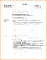 Resume Samples For Freshers Mechanical Engineers Pdf Valid 8