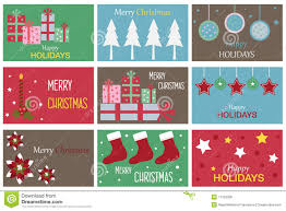 Gift Cards For Christmas Christmas Gift Cards Stock Vector Illustration Of Cute