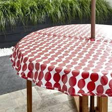 vinyl round tablecloth outdoor tablecloths red square 52 h