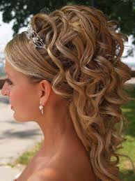 Style Coiffure Cheveux Boucles Mi Long Mariage