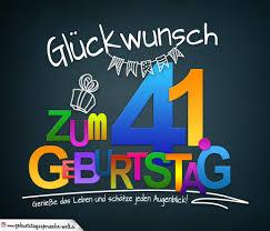 Sprüche Zum 41 Geburtstag Karte Mit Schönem Spruch Zum Nachdenken