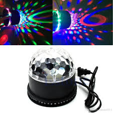Rotating Disco Light Edison2011 Led Rgb Stage Light Crystal Rotating Magic Ball Sunflower Colorful Light Stage Light Party Lamp Disco Lights For Stage Stage Equipment And
