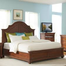 Louvered Bedroom Furniture King Arch Bed W Louvered Headboard By Riverside Furniture Wolf